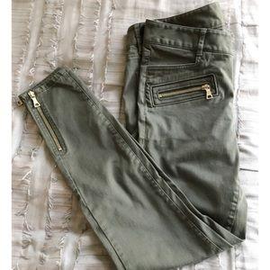 Loft Zip Skinny Jeans